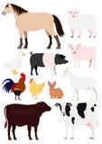 Geplaatste de dieren van het landbouwbedrijf stock illustratie