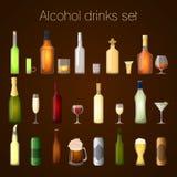 Geplaatste de dranken van de alcohol royalty-vrije illustratie