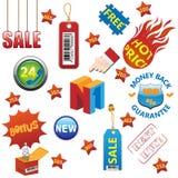 Geplaatste de elementen van de verkoop Stock Fotografie