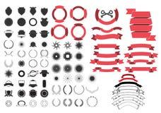 Geplaatste de elementen van het ontwerp royalty-vrije illustratie