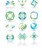 Geplaatste de elementen van het ontwerp. Stock Foto's