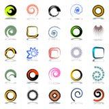 Geplaatste de elementen van het ontwerp. Abstracte pictogrammen. stock illustratie