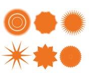 Geplaatste de elementen van het ontwerp. Abstracte pictogrammen Stock Fotografie