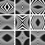Geplaatste de elementen van het ontwerp Symmetrische patronen Royalty-vrije Stock Foto's