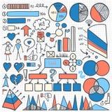 Geplaatste de elementen van Infographic Royalty-vrije Stock Fotografie