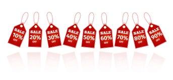 Geplaatste de etiketten van verkoopbesparingen Stock Foto