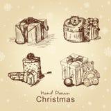 Geplaatste de giften van Kerstmis Stock Afbeelding