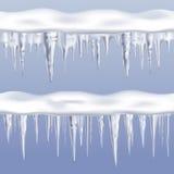 Geplaatste de Grenzen van ijskegelstileable Stock Foto's