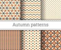 Geplaatste de herfst vector naadloze patronen stock illustratie