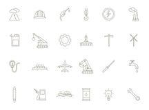 Geplaatste de industrie zwarte pictogrammen Royalty-vrije Stock Foto