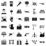 Geplaatste de industriepictogrammen, eenvoudige stijl Royalty-vrije Stock Afbeelding