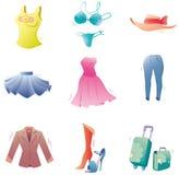 Geplaatste de kleren van de manier. Royalty-vrije Stock Foto