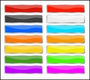 Geplaatste de knopen van de kleur Stock Foto