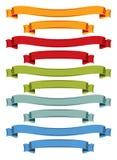 Geplaatste de linten van de kleur Stock Afbeelding