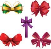 Geplaatste de linten van Kerstmis Royalty-vrije Stock Afbeeldingen