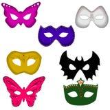 Geplaatste de maskers van de bal Stock Foto