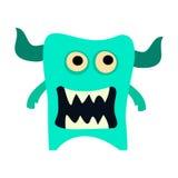 Geplaatste de monsters van het beeldverhaal Kleurrijk stuk speelgoed leuk monster Vectoreps 10 Royalty-vrije Stock Foto