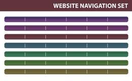 Geplaatste de navigatie van de website - Vector Stock Afbeelding