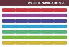 Geplaatste de navigatie van de website - Vector Royalty-vrije Stock Fotografie