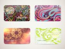 Geplaatste de ontwerpen van de giftkaart Stock Fotografie
