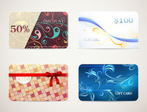 Geplaatste de ontwerpen van de giftkaart Stock Foto