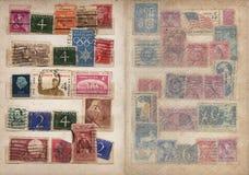Geplaatste de Pagina's van het Album van de zegel Royalty-vrije Stock Afbeeldingen