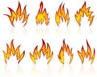 Geplaatste de patronen van de brand Royalty-vrije Stock Afbeeldingen