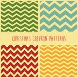 Geplaatste de patronen van de Kerstmischevron Stock Foto