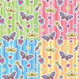 Geplaatste de patronen van de prinses Royalty-vrije Stock Afbeeldingen