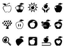 Geplaatste de pictogrammen van Apple Stock Afbeelding