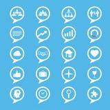 Geplaatste de pictogrammen van bedrijfsinnovatieconcepten Royalty-vrije Stock Fotografie