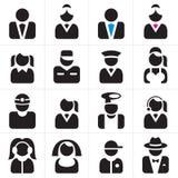 Geplaatste de pictogrammen van beroepen Royalty-vrije Stock Afbeelding