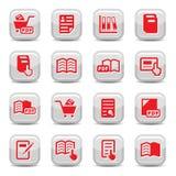 Geplaatste de pictogrammen van boeken Stock Foto