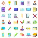 Geplaatste de pictogrammen van de boekhoudingsdienst, beeldverhaalstijl Stock Fotografie