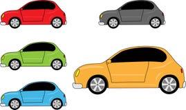 Geplaatste de pictogrammen van de auto Stock Fotografie