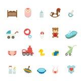 Geplaatste de pictogrammen van de baby Stock Foto's