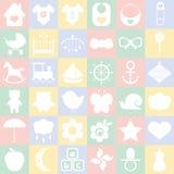Geplaatste de pictogrammen van de baby Royalty-vrije Stock Afbeelding