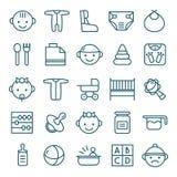 Geplaatste de pictogrammen van de baby royalty-vrije illustratie