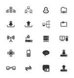Geplaatste de pictogrammen van de computer. Royalty-vrije Stock Foto's