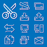 Geplaatste de pictogrammen van de computer Stock Foto's