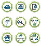 Geplaatste de pictogrammen van de computerwolk Royalty-vrije Stock Foto