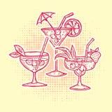 Geplaatste de Pictogrammen van de Dranken van de alcohol stock illustratie