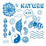 Geplaatste de pictogrammen van de ecologie Royalty-vrije Stock Afbeelding