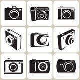 Geplaatste de Pictogrammen van de fotocamera Royalty-vrije Illustratie