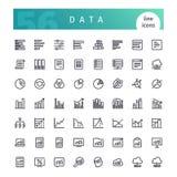 Geplaatste de Pictogrammen van de gegevenslijn royalty-vrije illustratie
