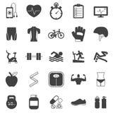 Geplaatste de pictogrammen van de geschiktheid Stock Fotografie