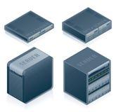 Geplaatste de Pictogrammen van de Hardware van de computer - de Elementen van het Ontwerp 55e Royalty-vrije Stock Foto