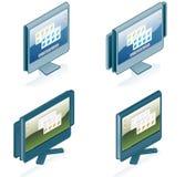 Geplaatste de Pictogrammen van de Hardware van de computer - de Elementen van het Ontwerp 55g Royalty-vrije Stock Afbeeldingen
