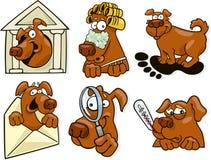 Geplaatste de pictogrammen van de hond Stock Fotografie