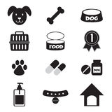 Geplaatste de pictogrammen van de hond Royalty-vrije Stock Foto's